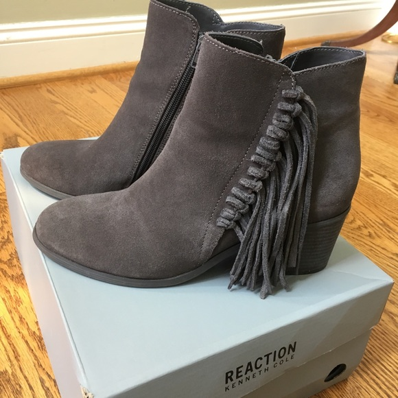 11e51d4a5edd8 Kenneth Cole Reaction Shoes | Rowdy Fringe Booties | Poshmark